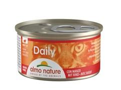 "Almo Nature - Консервы для кошек ""Кусочки с Говядиной"" Daily Menu Cat Chunks with Beef"
