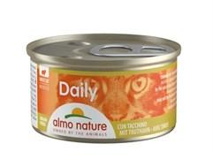 """Almo Nature - Консервы нежный мусс для кошек """"Меню с Индейкой"""" Daily Menu Turkey mousse"""