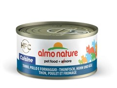 Almo Nature - Консервы для кошек (с Тунцом, Курицей и Сыром) Legend Adult Cat Tuna, Chicken and Cheese