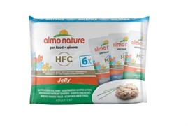 Almo Nature - Паучей для кошек (с тунцом) Набор 6 шт. по 55 г Multipack Classic Jelly Tuna