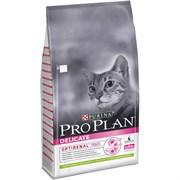 Purina Pro Plan - Сухой корм для кошек с чувствительным пищеварением и привередливых к еде (с ягненком)