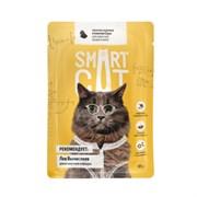 Smart Cat - Паучи для взрослых кошек и котят (кусочки курицы в нежном соусе)
