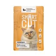 Smart Cat - Паучи для взрослых кошек и котят (кусочки курицы с тыквой в нежном соусе)