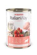 Italian Way - Консервы безглютеновые для щенков всех пород (мясное ассорти с томатами и рисом) Junior