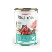 """Italian Way - Консервы безглютеновые низкокалорийные для собак всех пород  """"Профилактика аллергии"""" (форель и черника) Ideal Weight Trout/Blueberry"""
