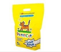 """Pretty Cat - Комкующийся наполнитель для кошек """"Супер белый"""""""