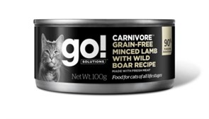 GO! Natural Holistic - Консервы беззерновые для кошек (с рубленым мясом ягненка и дикого кабана) Carnivore Grain Free Minced Lamb with Wild Boar CF