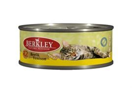 Berkley - Консервы для кошек (с говядиной и олениной)