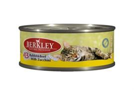 Berkley - Консервы для кошек (с кроликом, говядиной и цуккини)