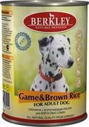 Berkley - Консервы для собак (с олениной и коричневым рисом) Adult Game&Brown Rice
