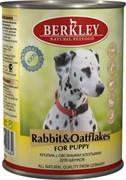Berkley - Консервы для щенков (с кроликом и овсянкой) Puppy Rabbit&Oatflakes