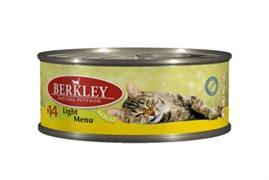 Berkley - Консервы для кошек облегченные (с телятиной и кроликом)