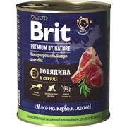 Brit - Консервы для собак (с говядиной и сердцем) Premium BEEF&HEARТ
