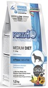 Forza10 - Сухой диетический корм для взрослых собак средних пород при аллергии (с рыбой) Medium Diet
