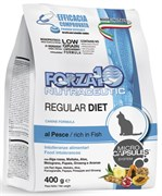 Forza10 - Сухой диетический корм для кошек при аллергии и пищевой непереносимости (с рыбой) Regular Diet