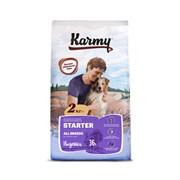 Karmy - Сухой корм для щенков всех пород до 4 месяцев, беременных и кормящих сук (с индейкой) STARTER ALL BREEDS