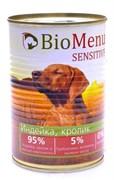 BioMenu - Консервы для собак гипоаллергенные (индейка и кролик)
