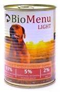 BioMenu - Консервы для собак низкокалорийные (с индейкой и коричневым рисом) LIGHT