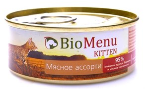 BioMenu - Паштет для котят (мясное ассорти)