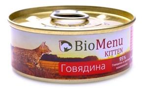 BioMenu - Паштет для котят (с говядиной)