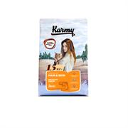Karmy - Сухой корм для взрослых кошек с чувствительной кожей и шерстью (с лососем) HAIR & SKIN
