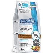 Forza10 - Сухой диетический корм для взрослых собак средних пород при аллергии (с кониной и горохом) Medium Diet Low Grain