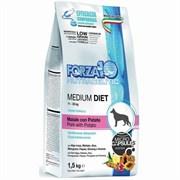 Forza10 - Сухой диетический корм для взрослых собак средних пород при аллергии (со свининой и картофелем) Medium Diet Low Grain