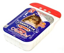 """Сибирская кошка - Одноразовый лоток с наполнителем для кошек """"Супер"""" 5 л"""