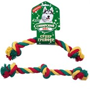 Сибирская кошка - Сибирский Пес игрушка для собаки Грейфер, цветная верёвка 3 узла D 22/340 мм