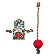 """Сибирская кошка - Сибирский Пес игрушка для собак """"Супермяч"""" на верёвке с двумя узлами"""