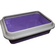 Сибирская кошка - Туалет для кошек глубокий с бортиком 37x27x9.5 см