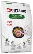 Ontario - Сухой корм для кошек с чувствительным пищеварением (с уткой и ягненком) Cat Sensitive/Derma