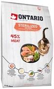 Ontario - Сухой корм для стерилизованных кошек (с лососем) Cat Sterilised Salmon