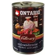 "Ontario - Консервы для собак ""Минестроне с Курицей и Свининой"" Culinary Minestrone Chicken and Pork"