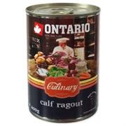 """Ontario - Консервы для собак """"Рагу с теленком и уткой"""" Culinary Calf Ragout with Duck"""