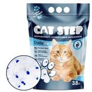 Cat Step - Впитывающий  силикагелевый наполнитель для кошек Crystal Blue