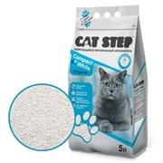 Cat Step - Комкующийся бентонитовый наполнитель для кошек Compact White Original