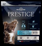 Flatazor - Сухой корм диетический для взрослых собак малых пород, кастрированных и стерилизованных собак PRESTIGE LIGHT/STERILISED MINI
