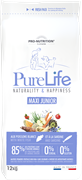 Flatazor - Сухой корм беззерновой для щенков крупных пород (с белой рыбой и сардинами) PURE LIFE JUNIOR MAXI