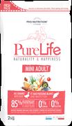 Flatazor - Сухой корм беззерновой для взрослых собак малых пород (с уткой и белой рыбой) PURE LIFE ADULT MINI