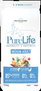 Flatazor - Сухой корм беззерновой для взрослых собак средних пород (с лососем и уткой) PURE LIFE ADULT MEDIUM