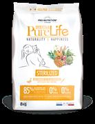 Flatazor - Сухой корм для взрослых стерилизованных кошек (с уткой и сардинами) PURE LIFE STERILIZED