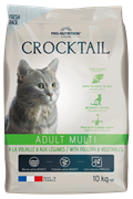 Flatazor - Сухой корм для взрослых кошек (с птицей и овощами) CROCKTAIL ADULT MULTI