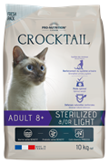 Flatazor - Сухой корм для взрослых стерилизованных кошек (с курицей) CROCKTAIL ADULT 8+ STERILIZED &/OR LIGHT