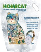 Homecat - Силикагелевый наполнитель для кошек (с ароматом морозной свежести)