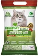 """Homecat - Комкующийся наполнитель для кошек """"Эколайн"""" с ароматом зеленого чая"""