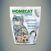Homecat - Силикагелевый наполнитель для кошачьих туалетов с ароматом морозной свежести
