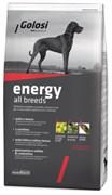Golosi - Сухой корм для активных взрослых собак всех пород (с курицей, говядиной и рисом) ENERGY ALL BREEDS