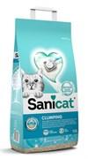 SaniCat - Комкующийся наполнитель для кошек (с активным кислородом и ароматом марсельского мыла)