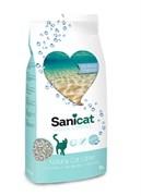 """SaniCat - Впитывающий наполнитель для кошек """"Контроль запаха"""" (с ароматом морского бриза)"""